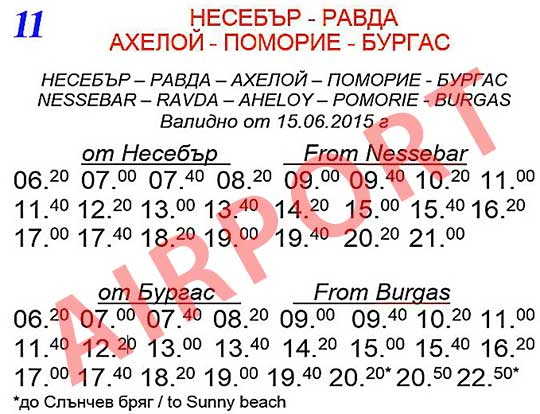 Несебр — Равда — Ахелой — Поморие — Бургас