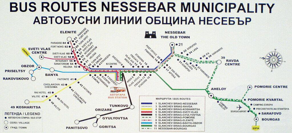 Автобусные линии ОБЩИНЫ НЕСЕБР