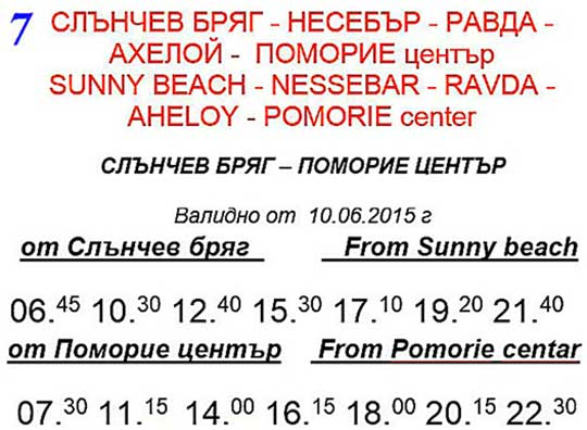 Солнечный Берег — Несебр — Равда — Ахелой — Поморие (центр)